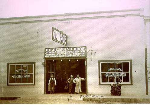 Exterior of Hildebrand Brothers Garage