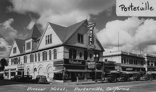 Pioneer Hotel Porterville Calif Ca 1935