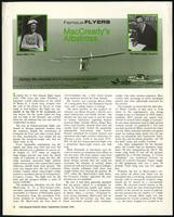 MacCready's Albatross, FAA General Aviation News (2 items)