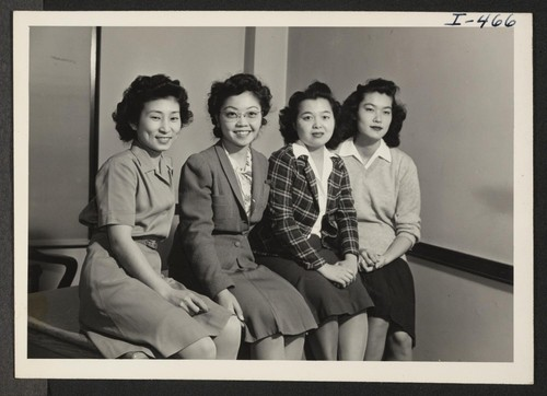 This is a group picture of the Nisei residing at the Buffalo YWCA, Buffalo, New York. From Left to right