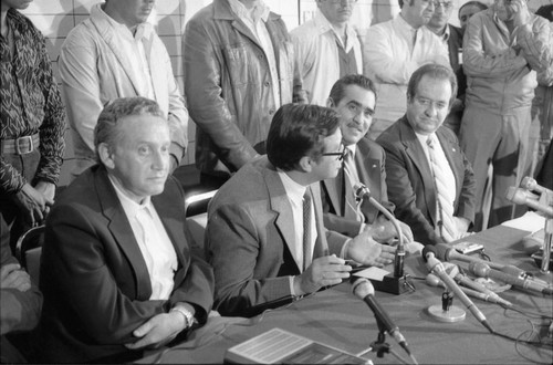 Press Conference Against Voter Fraud, Guatemala, 1982
