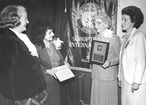 Soroptimist International Club of Glendale, 1981