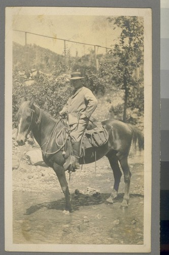 [Unidentified man on horse.]