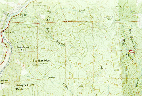 Calisphere Map Of Section Of Butte Countyred Mark At Happy - Butte county map