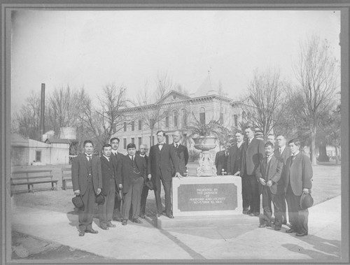 Japanese Community's Presentation of Fountain at Kings Courthouse