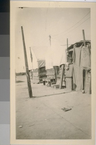 Snapshots of workers' camp