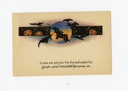 Come out and join the fun and watch for ghosts when Hallowe'en comes on