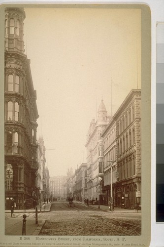 Montgomery Street, From California, South, S. F. [San Francisco]