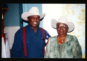 Unidentified man and woman, Texas day, AIM, COGIC, Houston