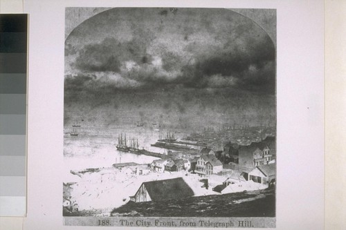 City front from Telegraph Hill. Ca. 1860