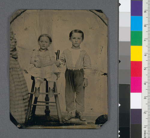 [Clark Alberti (b. 1855) and his sister Mary as children.]