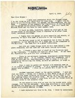 Letter from William Randolph Hearst to Julia Morgan, April 4, 1923