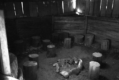 Interior of a Hupa house