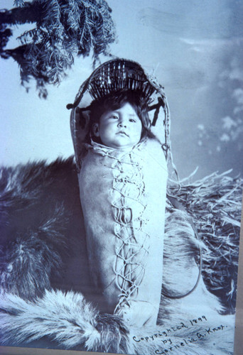 Paiute Indian baby of Lakeview, Oregon--ca 1899
