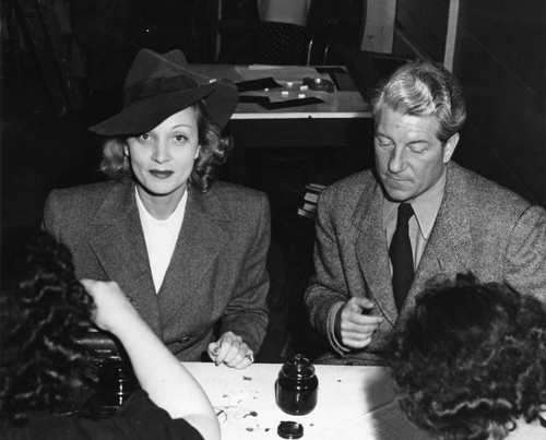 Marlene Dietrich and Jean Gabin, Hollywood Canteen — Calisphere