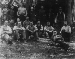 Charles E. Fuller Occidental Mill and woods crew 1905