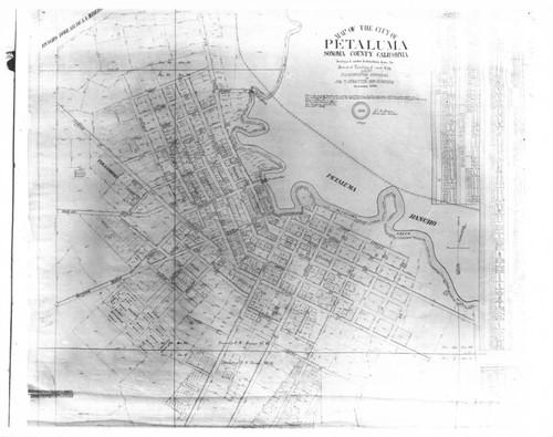 Calisphere Map of the city of Petaluma California 1865