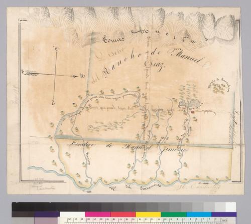 Diseño del Rancho de Manuel Diaz : [Colusa County, Calif.] / H. Cambuston
