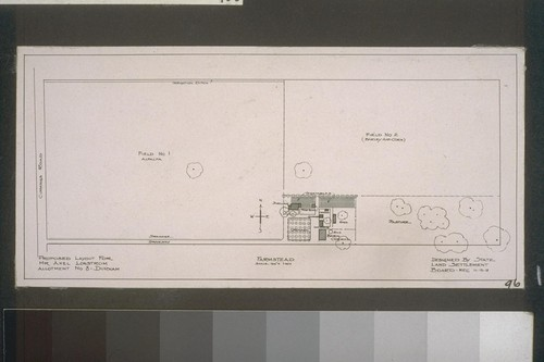 Farmstead - Proposed layout for Mr. Axel Lonstrom, Allotment No. 8 - Durham - designed by State Land Settlement Board - 11-15-18