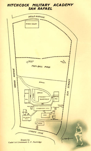 Calisphere Map Of Hitchcock Military Academy From The School S
