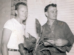 Unidentified man and Hal Rebarich