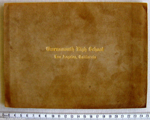 Cover of a Graduation Certificate, Owensmouth High School