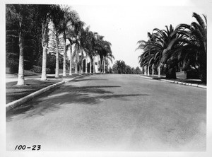Eighth Street through Fremont Park, Los Angeles, 1931