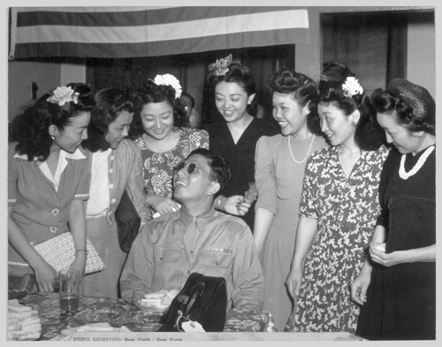 Pvt. Yoshinao Omiya, Hawaiian-born Nisei who served with the famed 100th Infantry Battalion and lost his eyesight during the crossing