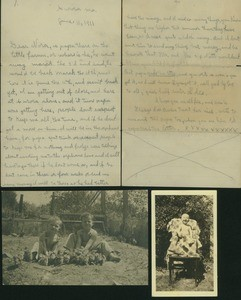 Family letter from Goldie to Nora and photographs