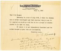 Letter from William Randolph Hearst to Julia Morgan, July 31, 1926