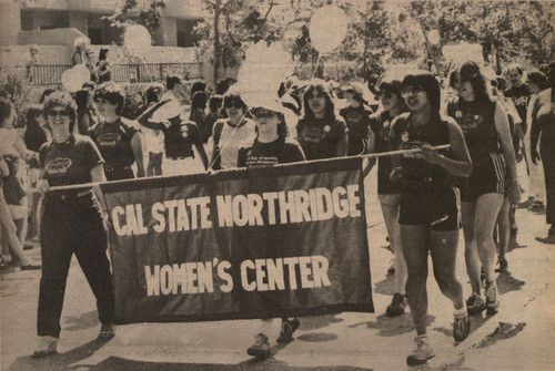 "Daily Sundial - ""March for Equality,"" California State University, Northridge Women's Center, September 1, 1981"