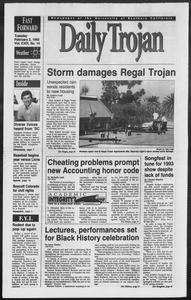 Daily Trojan, Vol. 119, No. 14, February 02, 1993