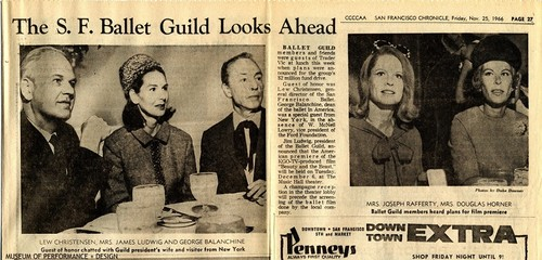 "Scrapbook clipping of article ""The S.F. Ballet Guild Looks Ahead"""