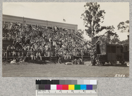 The last demonstration of 1930, May 29, at the San Rafael High School, Marin County