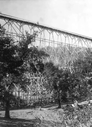 Trestle on the Flume from Lyonsville to Red Bluff