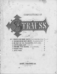 Bahn frei! = Clear the track! : galop : op. 45 / Ed. Strauss