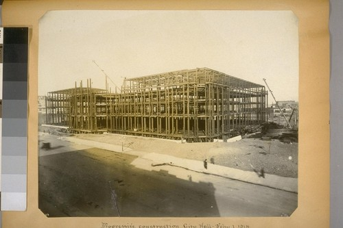Progressive construction, City Hall. Feby. 1, 1914. (Van Ness Ave. elevation.) [No. 1726?]