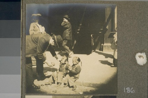 [Street scene. Unidentified Chinese children and man.]