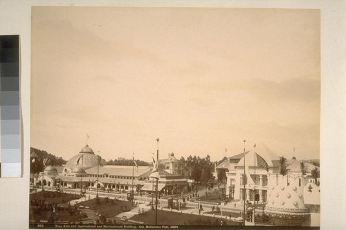 Fine Arts and Agricultural and Horticultural Building, Cal. Midwinter Fair, 1894
