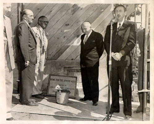 [Ceremony marking beginning of construction of home for Jewish aged]