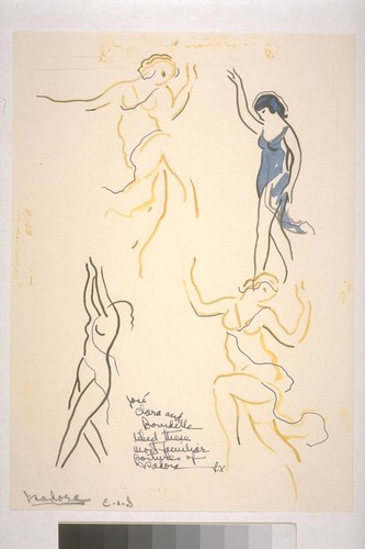 Jose and Clara Bourdelle liked these most familiar postures of Isadora