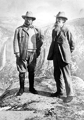 Roosevelt and Muir at Glacier Point