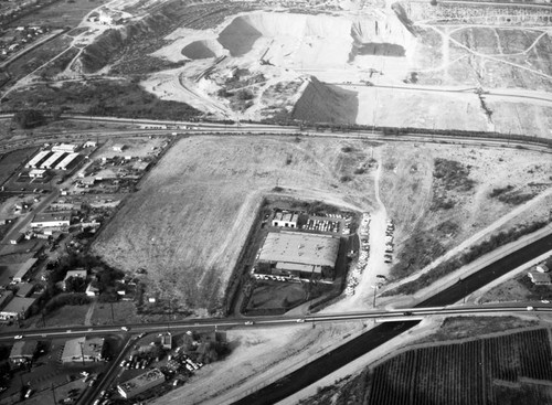 Pacific Drive-In property, Baldwin Park, looking north