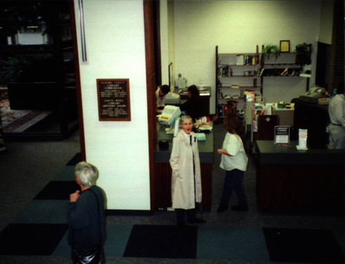 Friends of the Library and staff members at Sonoma County Central Library open house, November 7, 1999