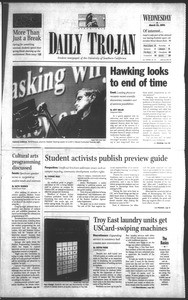 Daily Trojan, Vol. 142, No. 41, March 21, 2001