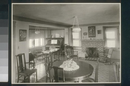 No. 51. Living room and dining room in superintendent's house