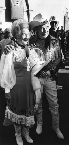 Dale Evans and Roy Rogers at Academy Awards