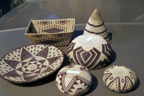 Six baskets from the Frank Joseph Collection