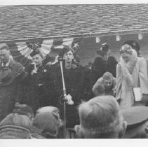 "Dedication of Indian Museum, Sutter's Fort--from the scrapbook ""Flora Schmittgen: This Is Your Life - April 7, 1955"