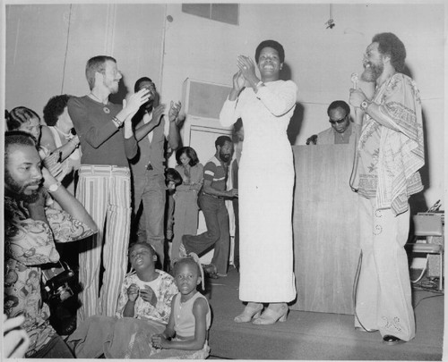 Maya Angelou and Cecil Williams at Glide Memorial Church, Sunday, July 14, 1974